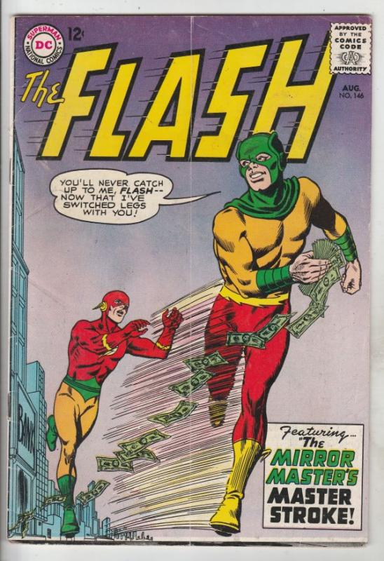 Flash, The #146 (Aug-64) FN- Mid-Grade Flash