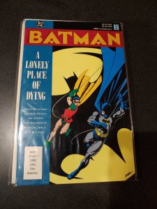 D C Comics BATMAN A LONELY PLACE OF DYING