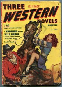 Three Western Novels Pulp #5 October 1949- Frank Castle VG
