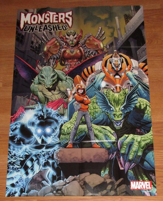 Monsters Unleashed #1 Art Adams Folded Promo Poster 24 x 36 (2017) New