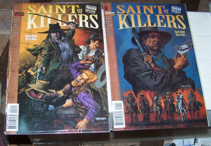 Saint of killers # 1+ 2  preacher special   PAINTED COVER BY FABRY garth ennis
