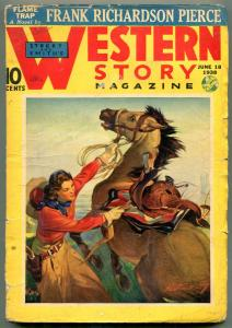 Western Story Magazine Pulp June 18 1938- Frank Richardson Pierce VG