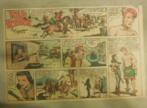 Red Ryder Sunday Page by Fred Harman from 6/28/1942 Half Page Size!