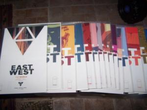EAST OF WEST  issues 1-21 +WORLD soucebook HICKMAN +DRAGOTTA  AMAZON TV  WESTERN