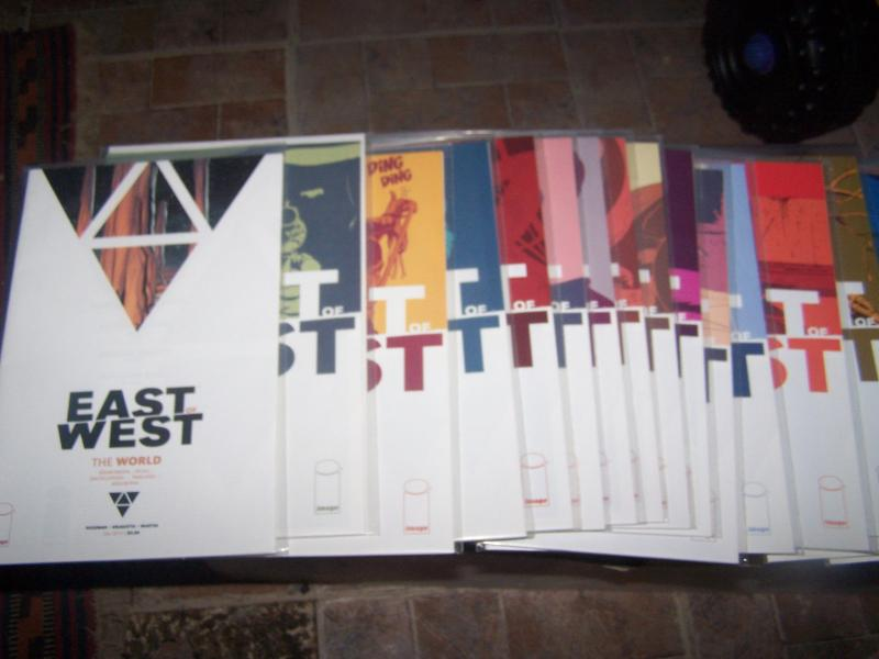 EAST OF WEST  issues 1-21 +WORLD soucebook HICKMAN +DRAGOTTA  AMAZON TV  WESTERN
