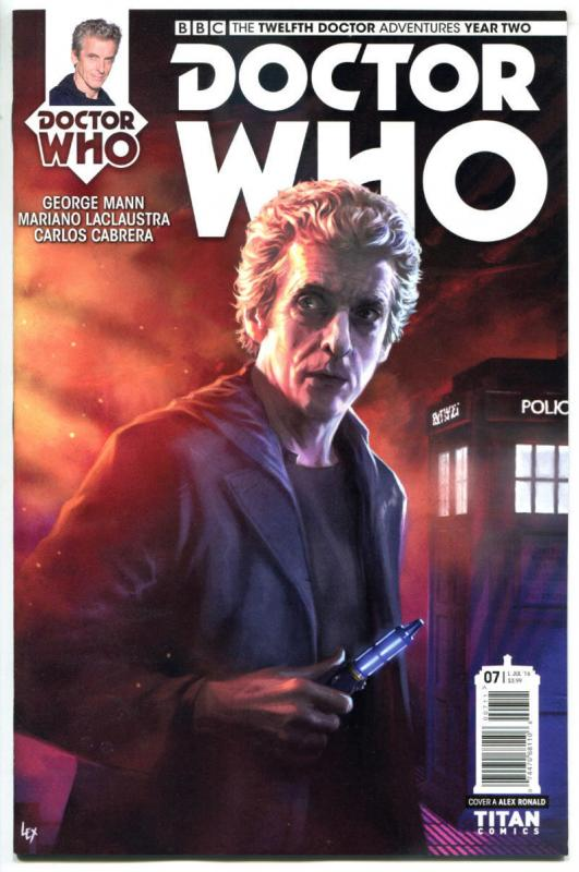 DOCTOR WHO #7 A, NM, 12th, Tardis, 2016, Titan, 1st, more DW in store, Sci-fi
