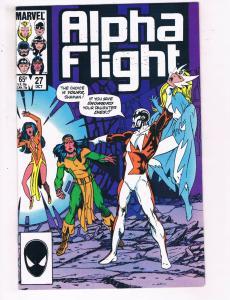 Alpha Flight #27 VF Marvel Comics Comic Book Oct 1986 DE23