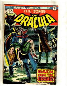 Lot Of 6 Tomb Of Dracula Marvel Comic Books # 16 17 18 19 20 21 VF Range RS1