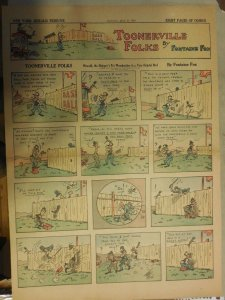 Toonerville Folks by Fontaine Fox from 5/23/1926 Full Size Color Page !