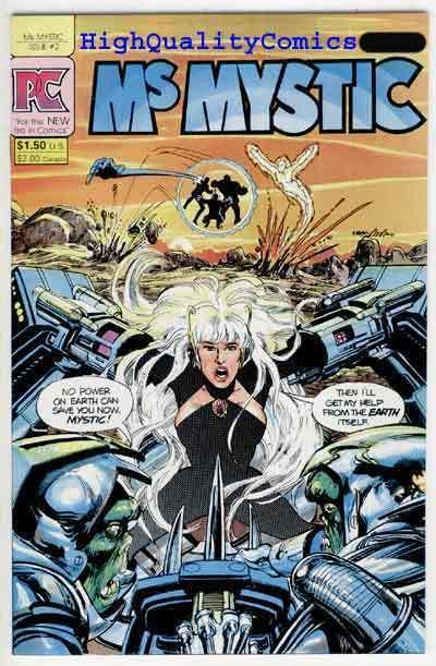 MS MYSTIC #2, NM, Pacific Comics ,Femme Fatale, Neal Adams, more indies in store