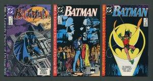 Batman #440  #441  #442 (1st Tim Drake Robin / SET) 1989