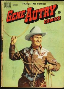 GENE AUTRY COMICS #42-1950-PHOTO COVER-DELL G/VG