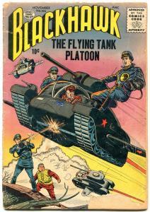 BLACKHAWK #106 1956 QUALITY PUBS FLYING TANKS NAPALM FR/G