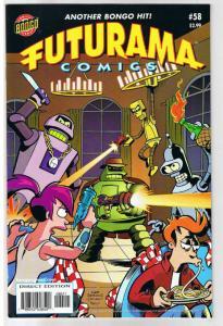 FUTURAMA #58, NM, Bongo, Fry, Bender, Leela, Professor Farnsworth, more in store