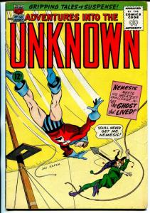 Adventures Into The Unknown #158-ACG-Nemesis-John Buscema-flying saucer-VG