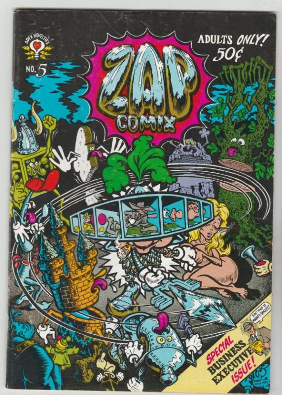 Zap #5 (Jan-73) VF High-Grade Star Eyed Stella, The Checkered Demon, Mr.Natural