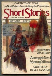 Short Stories Pulp September 25 1921- Wyoming Oil Boom G
