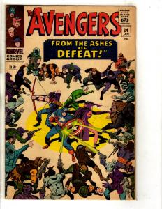 Avengers # 24 VF Marvel Comic Book Captain America Quicksilver Scarlet Witch FH2