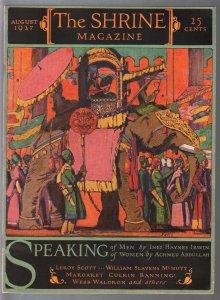 Shrine 8/1927-elephant cover-C.B. Falls-pulp fiction-C.D. Williams-FN/VF