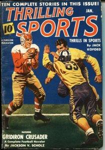 THRILLING SPORTS -- JAN 1941--FOOTBALL--GOLF--POLO--HOCKEY--BOXING--PULP