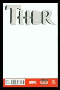 THOR #1 2014- FEMALE THOR- 1st PRINT BLANK VARIANT COVER- HOT HIGH GRADE