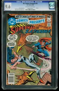 DC COMICS PRESENTS #18 1980-CGC GRADED 9.6-SUPERMAN ZATANNA 0207675013