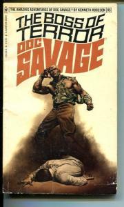 DOC SAVAGE-THE BOSS OF TERROR-#85-ROBESON-G-BORIS VALLEJO-1ST EDITION G