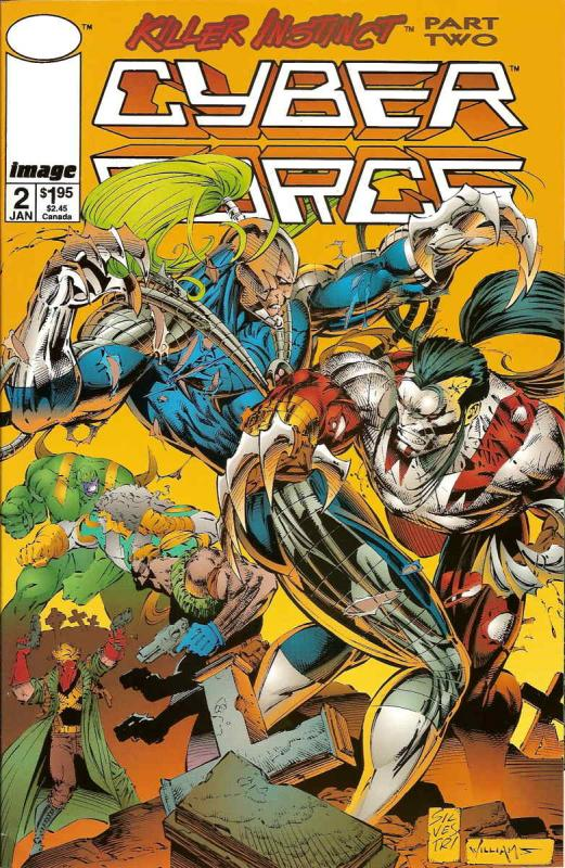 Cyberforce (Vol. 2) #2 VF/NM Image - save on shipping - details inside