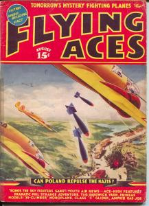 Flying Aces 8/1939-August Schomburg-Capt Philip Strange-Al McWilliams-G/VG