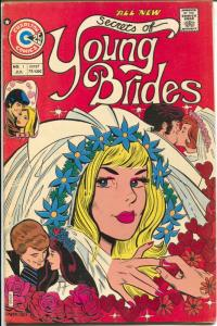 Secrets of Young Brides #1 1975-Charlton1st issue-swimsuit panels-FN+