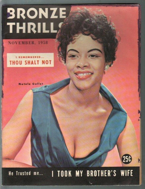 Bronze Thrills 11/1958-African American interest-Natola Gullet-exploitation-G