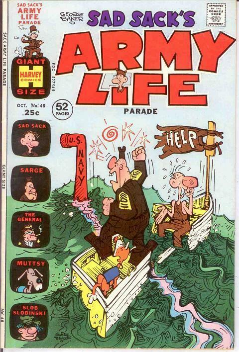 SAD SACKS ARMY LIFE (1963-1976) 48 VF- COMICS BOOK