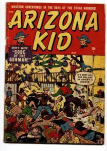 ARIZONA KID #2 1951-ATLAS-BAR FIGHT COVER-WESTERN THRILLS-g