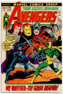 Avengers #102 HIGH GRADE 2nd app. Wonder Man; The Grim Reaper,The Sentinels
