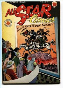 ALL STAR #24-Nazi WWII cover-HITLER-FLASH-GREEN LANTERN-DC FN+
