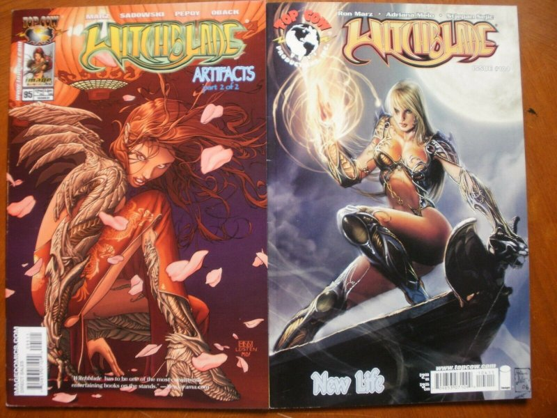 2 Near-Mint Image Top Cow Comic WITCHBLADE #95 #104 Marz Melo Pepoy (Artifacts)