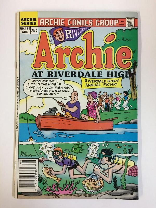 ARCHIE AT RIVERDALE HIGH (1972-1987)110 VF-NM  Aug 1986 COMICS BOOK