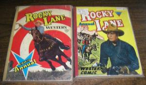 ROCKY LANE (1950s L MILLER)  2 UK ANNUALS photo covers