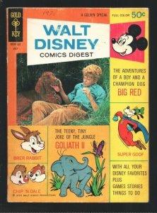 Walt Disney Comics Digest #23 1970-Photo cover Big Red-Donald Duck-Mickey L...