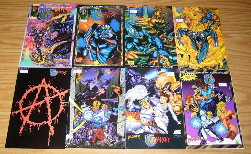 Team Anarchy #1-8 VF/NM complete series - dagger comics set lot 2 3 4 5 6 7 1993