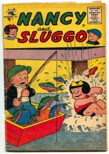 NANCY AND SLUGGO #136 1956- Fishing cover- VG-