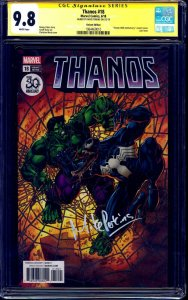 Thanos #18 VENOM VARIANT CGC SS 9.8 signed by Mike Perkins NM/MT