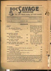 Doc Savage  8/1937-Kenneth Robeson-hero pulp-P