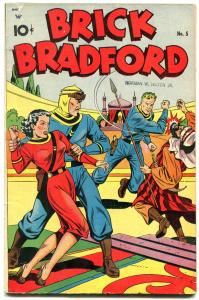 Brick Bradform #5 1948- 1st issue- Golden Age comic FN+