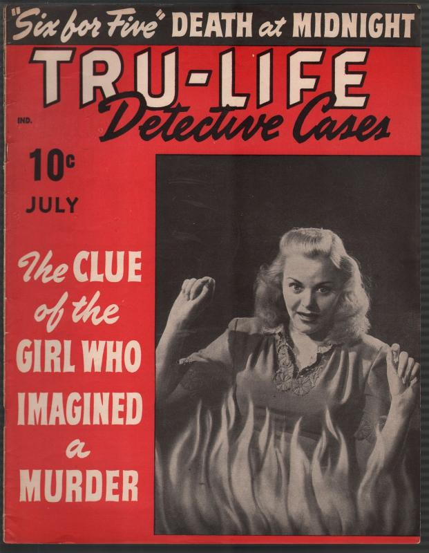 Tru-Life Detective Cases 7/1943-Tayshack-woman on fire-horror-crime-mystery-VG+