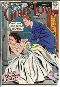 Girls' Love Stories #47 1957-DC-romance stories-VG