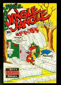 Jingle Jangle #25 1947- Famous Funnies- Snowstorm cover- F/VF