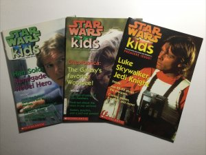 Star Wars Kids 1 2 3 Lot Run Set Magazine Near Mint- Nm- 9.2 Scholastic