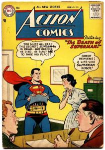 ACTION COMICS #225 1957-SUPERMAN-CONGO BILL-DEATH OF SUPERMAN