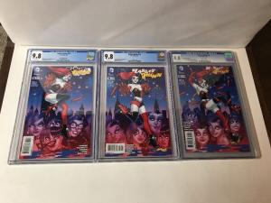 Harley Quinn 16 Cgc 9.8 Variant Set 1A 1C 1D Connecting Covers
